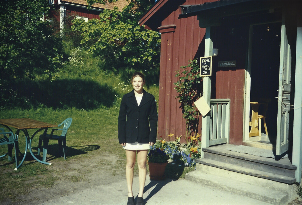 PÅ VEI INN I ANOREKSIEN: Elin, 15 år gammel, mens hun ennå kledde seg i kjole uten å dekke til kroppen.