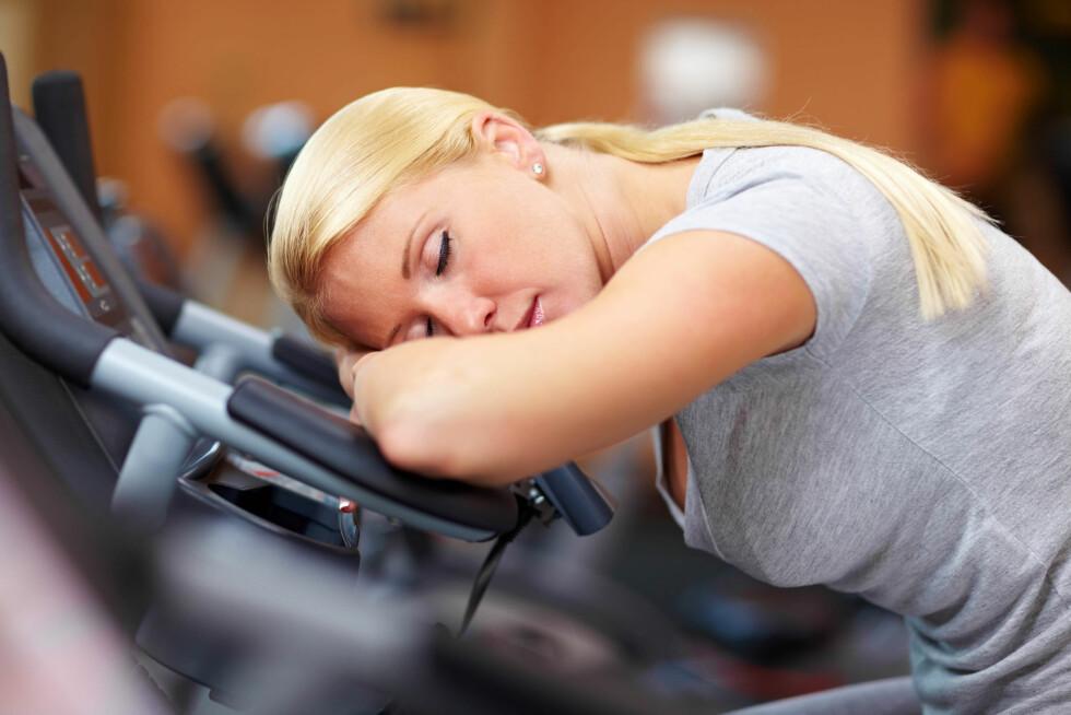 UTSLITT? Føler du deg utmattet etter mye trening? Da er det på tide med en hviledag!  Foto: Fotolia