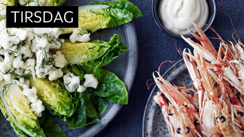 SJØMAT: Denne blomkålsalaten må du prøve. Helt lekker til sjømat! Foto: All Over Press