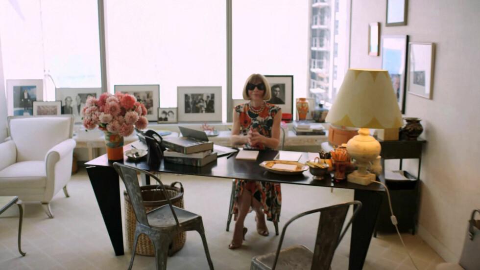 WINTOURS HOVEDKVARTER I CONDE NAST-BYGNINGEN I NEW YORK: Filmteamet til filmen The devil wears Prada har nok tatt seg en tur innom Wintours kontor da de lagde filmen.  Foto: Vogue