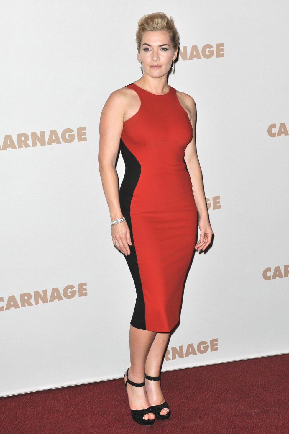 LIKE FIN I RØDT: Stella McCartneys it-kjole kommer i flere farger. Foto: All Over Press