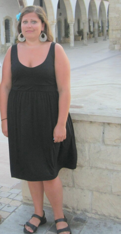 FØR: Da Inger Kristin veide over 94 kilo, bestemte hun seg for å ta grep.  Foto: Privat