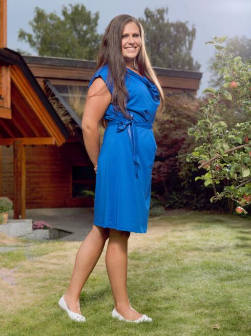 ETTER: I dag veier Inger Kristin 61,5 kilo og har all grunn til å være strålende fornøyd med egeninnsatsen. Foto: Grete Roede