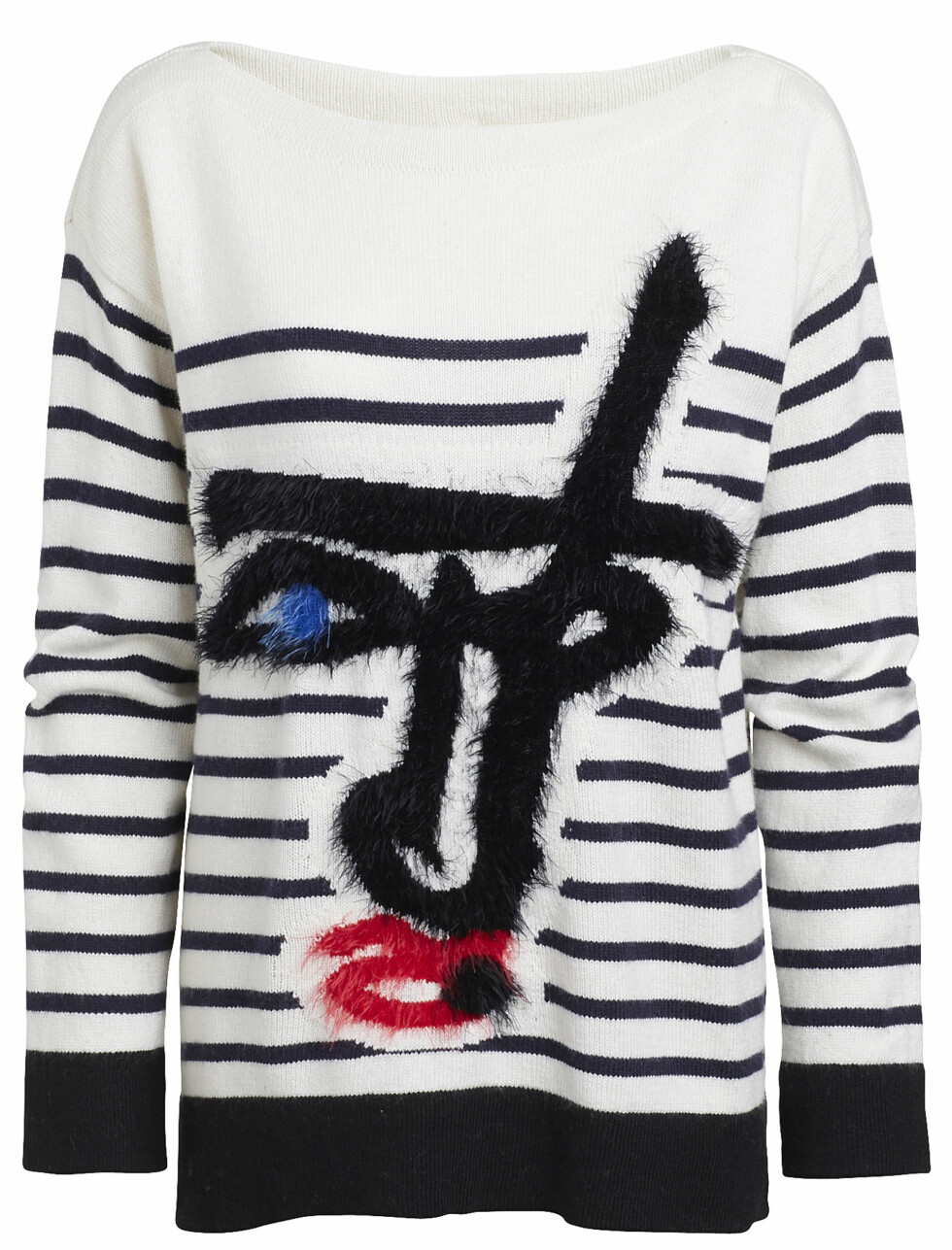 Jean Paul Gaultier for Lindex - Autumn 2014  Sweater / Composition: 40% cotton,30% viscose,25% polyamide,5% wool / Sizes: XS - L  Prices:  SE 599   NO 599   FI 59.95   EE 59.95   LV 59.95   LT 199   CZ 1499   SK 59.95   PL 229   RU 2999   BA 119.95   IS 11995   HR 459   Sales start: 2014-10-08