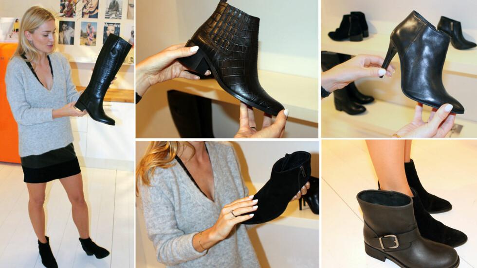 <strong>KLASSISKE SKO MED ROCKA TVIST:</strong> - Jeg startet med et moodboard og drømmen om de perfekte skoene. Dette er sko man faktisk kan bruke, og som ikke bare vil stå på en hylle og se pene ut, sier Camilla Pihl om sin nye kolleksjon for Bianco, som kommer i butikk 11. september.  Foto: Cecilie Leganger