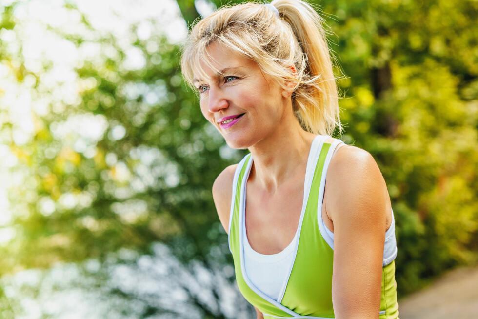 KONDISJON: For å forbrenne fettmassen man får når man blir eldre, er jogging det aller beste.  Foto: steigele - Fotolia