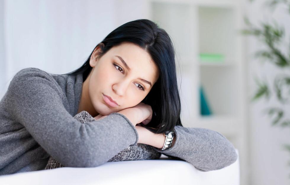 LAV SELVFØLELSE: Noen har så lav selvfølelse at de er redde for å ikke være gode nok for partneren og velger derfro å bryte ut av forholdet.  Foto: Fotolia
