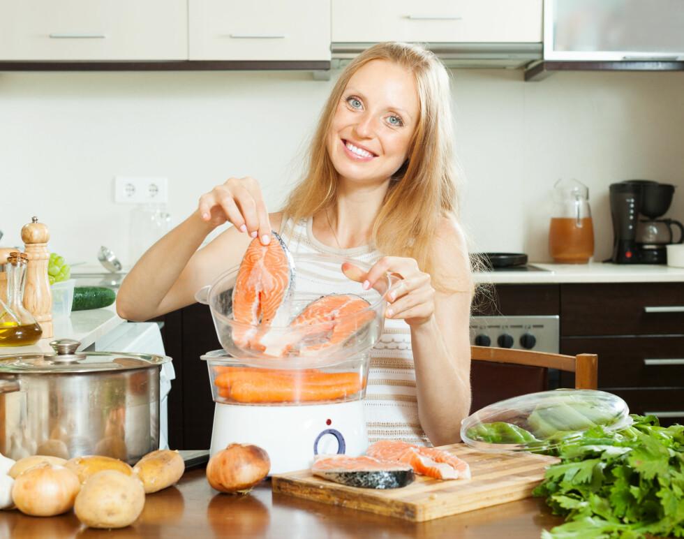 DAMP: Dampkoking er den beste måten å varmebehandle mat på, da bevarer du alle næringsstoffene og smakene i maten. Foto: JackF - Fotolia