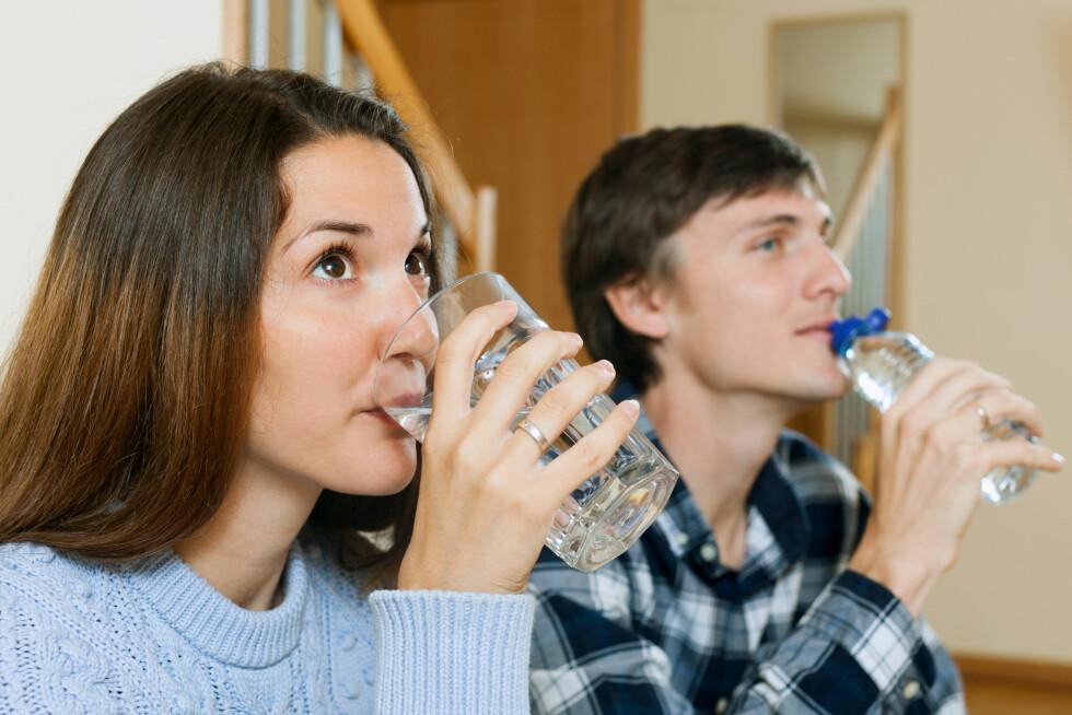 <strong>DRIKK MED MÅTE:</strong> Vann som er tilsatt smak og kullsyre bør nytes sammen med et måltid for å unngå syreskader. Foto: JackF - Fotolia