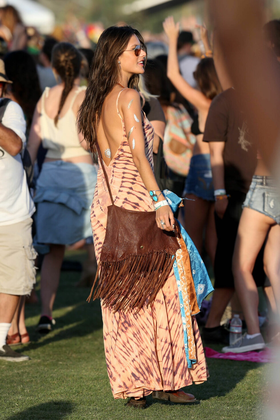 Alessandra Ambrosio på Coachella-festivalen.   Foto: Splash News/ All Over Press