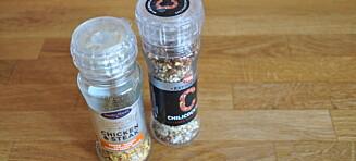Vær obs på bruken av krydderblandinger