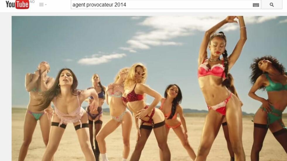 AGENT PROVOCATEUR REKLAME: Den nye reklamekampanjen, regissert av Penelope Cruz, er dampende het.  Foto: Agent Provocateur/Youtube.com