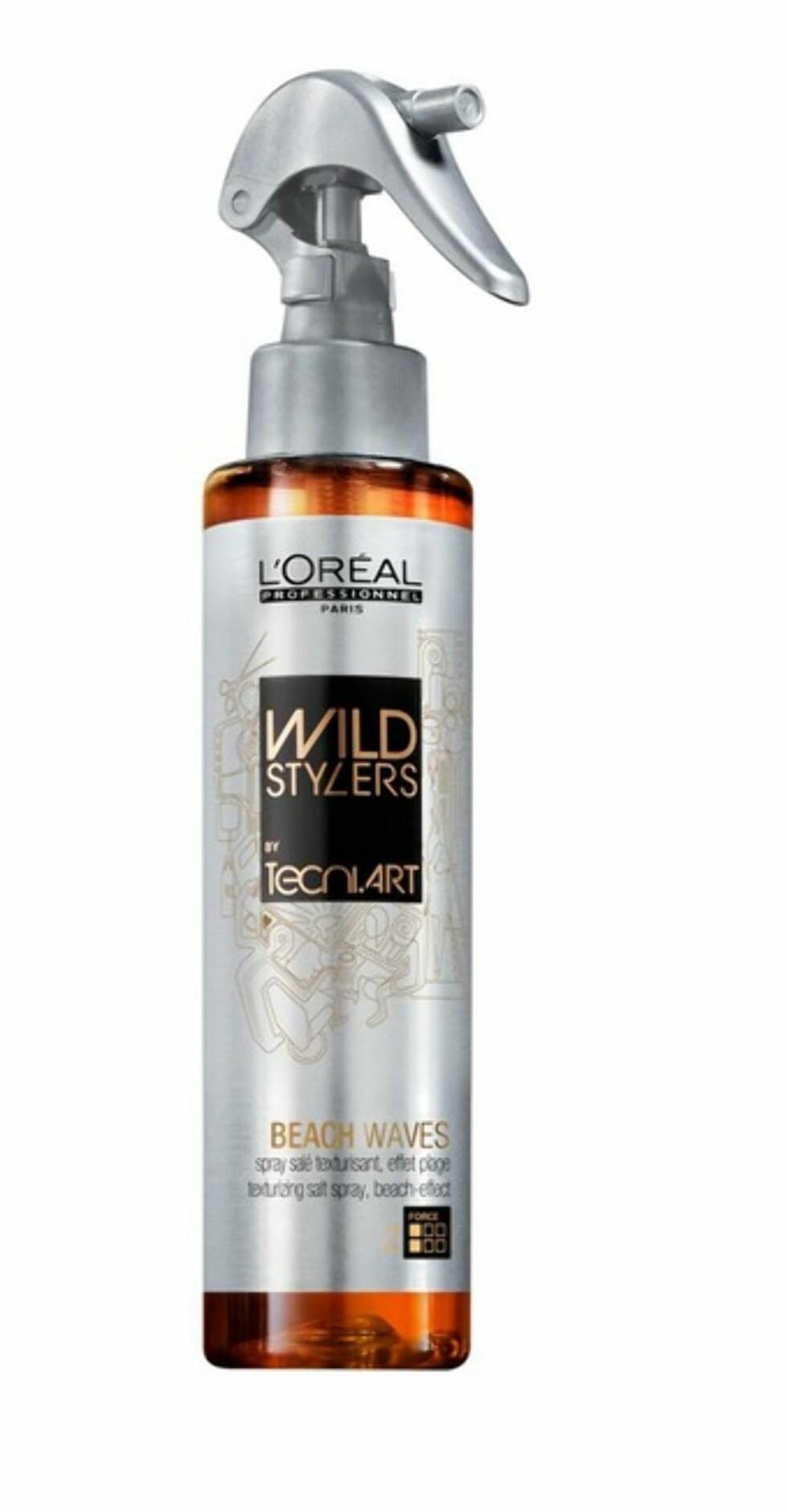 Kjøper du med Beach Waves saltvannsspray fra L'Oreal, får du  med en kam og et hårnett, kr 229.  Foto: Produsenten
