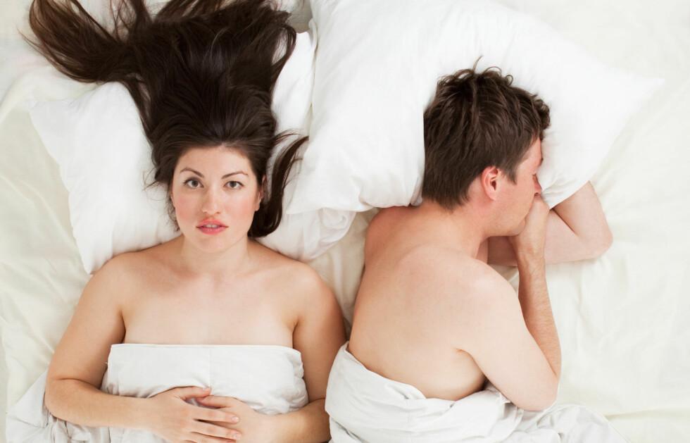SEX: Tilstanden gjør det gjerne vanskelig å ha sex. Dersom du mistenker at du er rammet av vulvodyni, er det viktig at du oppsøker lege.