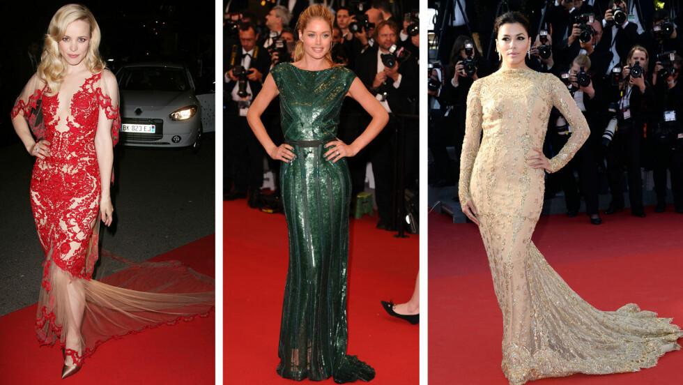 FILMFESTIVALEN I CANNES: Rachel McAdams, Doutzen Kroes og Eva Longoria er blant stjernene som har tatt pusten fra oss under filmfestivalen i Cannes. Foto: All Over Press
