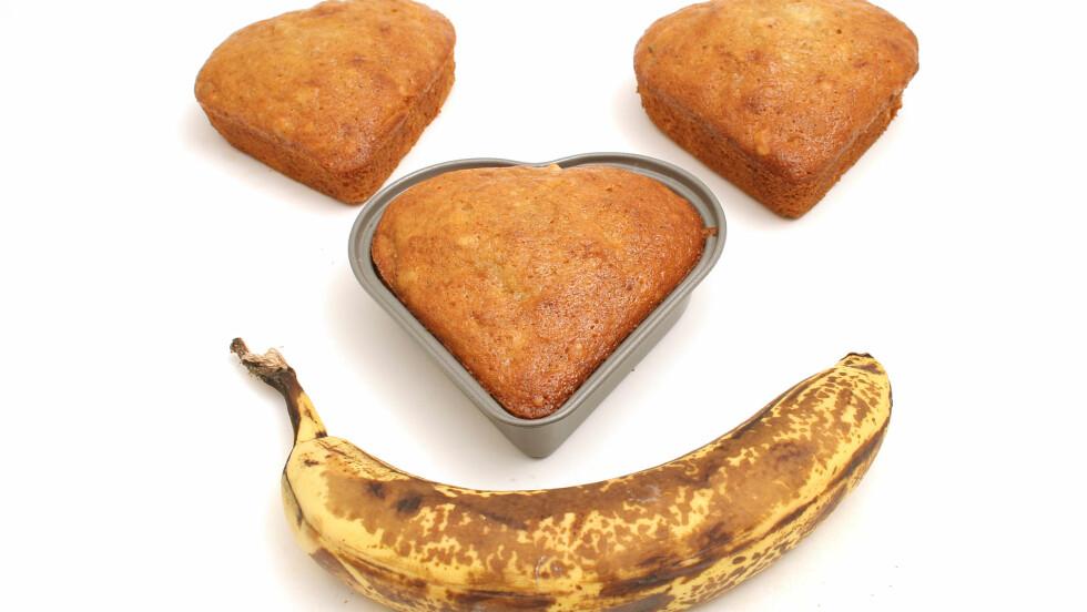 FORTSATT FIN: Brune bananer kan fortsatt brukes - de er for eksempel supre i bakevarer, som erstatning for sukker.  Foto: Andrea Berger - Fotolia