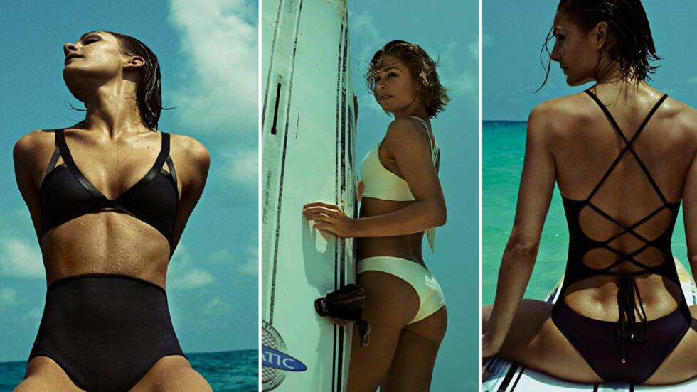 JENNY SKAVLAN FOR PORTO BRAZIL: - Jeg synes det er kroppen som skal komme best ut, ikke nødvendigvis bikinien, sier Skavlan som har gått for et stilrent design på sin badetøyskolleksjon. Foto: Jørgen Gomnæs for Porto Brazil