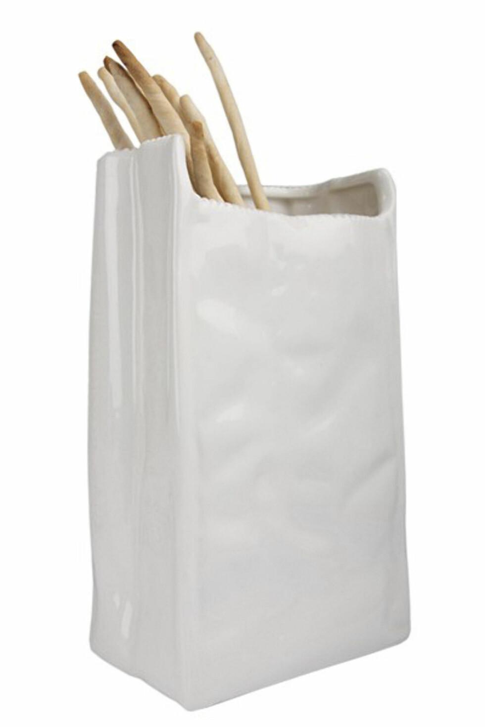Vase til breadsticks (kr 380, Seletti/eddainterior.no) Foto: Produsenten