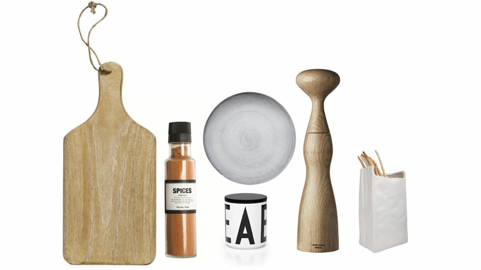 LETT OG LEKKERT: Lyse, delikate ting til kjøkkenbenken er det du bør satse på nå! Foto: Produsentene