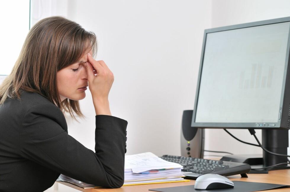 STRESS: Hverdagsstress er en faktor som kan trigge hodepine hos mange.  Foto: Martinan - Fotolia
