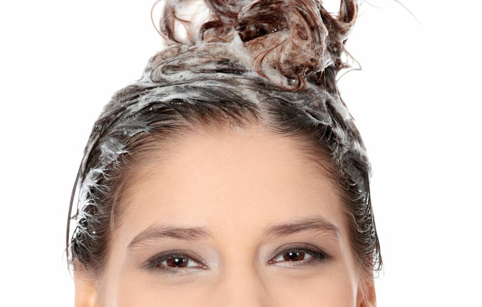 VIRKER UMIDDELBART: Balsamen har faktisk gjort jobben i det den treffer hårstrået, så du trenger faktisk ikke å vente de 2-3 minuttene du kanskje tenker at du burde vente for å la den virke. Da er tida bedre brukt på en god hårkur, forklarer frisørene.  Foto: Piotr Marcinski - Fotolia