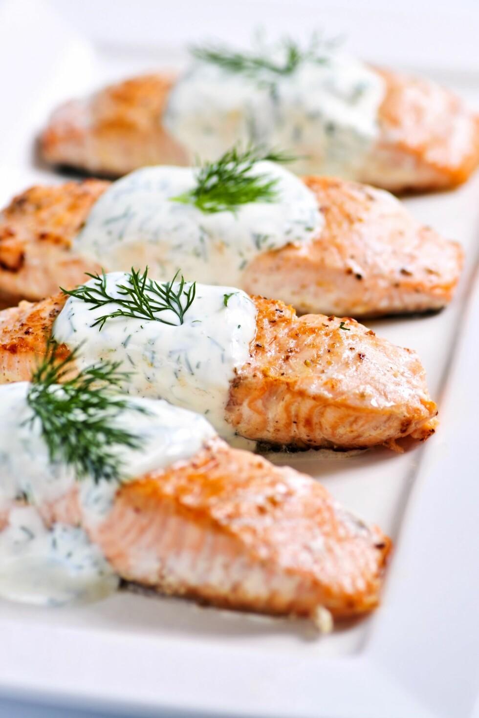 SUNT OG GODT: Laks er en fin kilde til både protein og omega 3. Foto: Colourbox