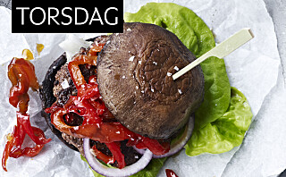 Portobelloburger med hot paprika