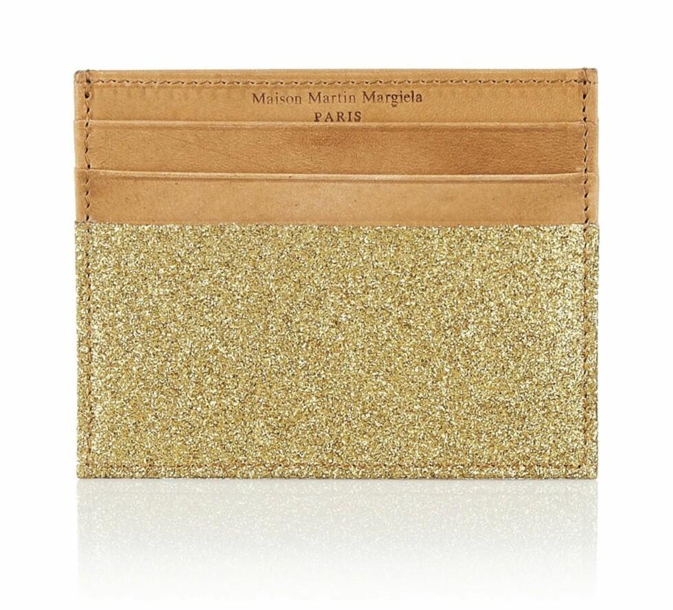 """""""Glitter leather cardholder"""" fra Maison Martin Margiela (kr 1390, net-a-porter.com) Foto: Produsenten"""