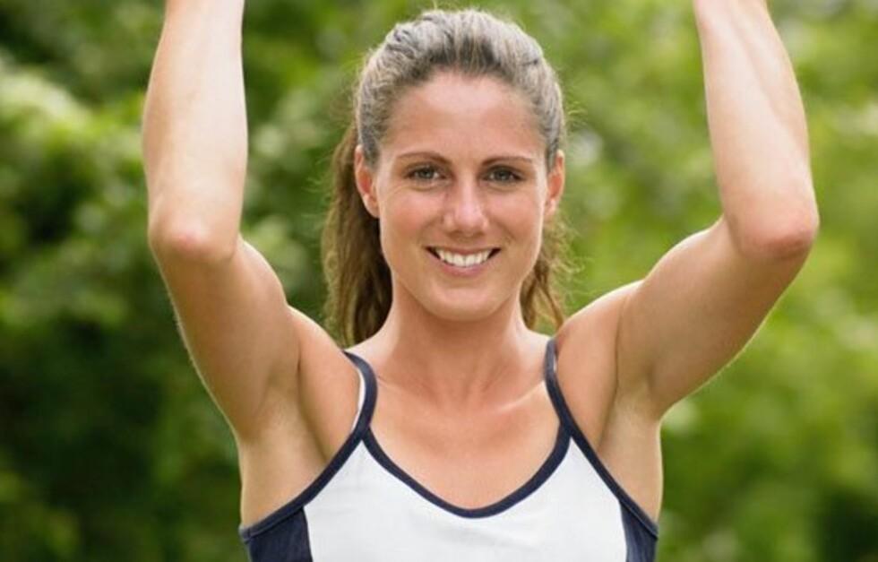 VELTRENTE ARMER: For å få veltrente armer er det regelmessig styrketrening som må til. KK.nos trenings- og kostholdsekspert Ina Garthe gir deg tips til de beste øvelsene lenger nede i saken!