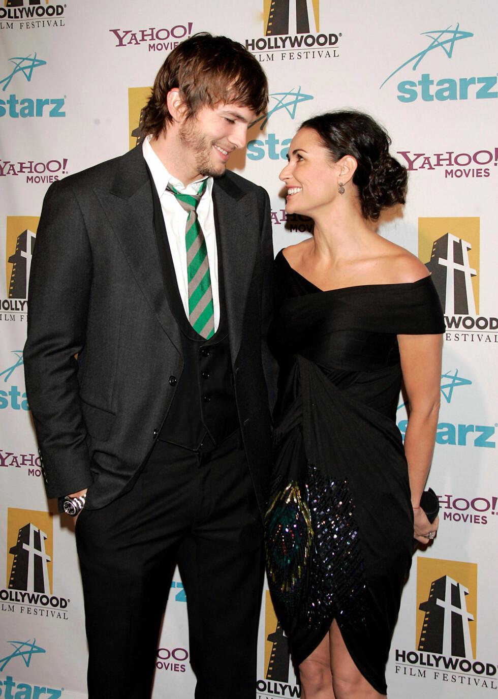 COUGAR: Demi Moore var tidligere i et forhold med Ashton Kutcher. De ble sammen da hun var 41 år og han var 25. Foto: All Over Press