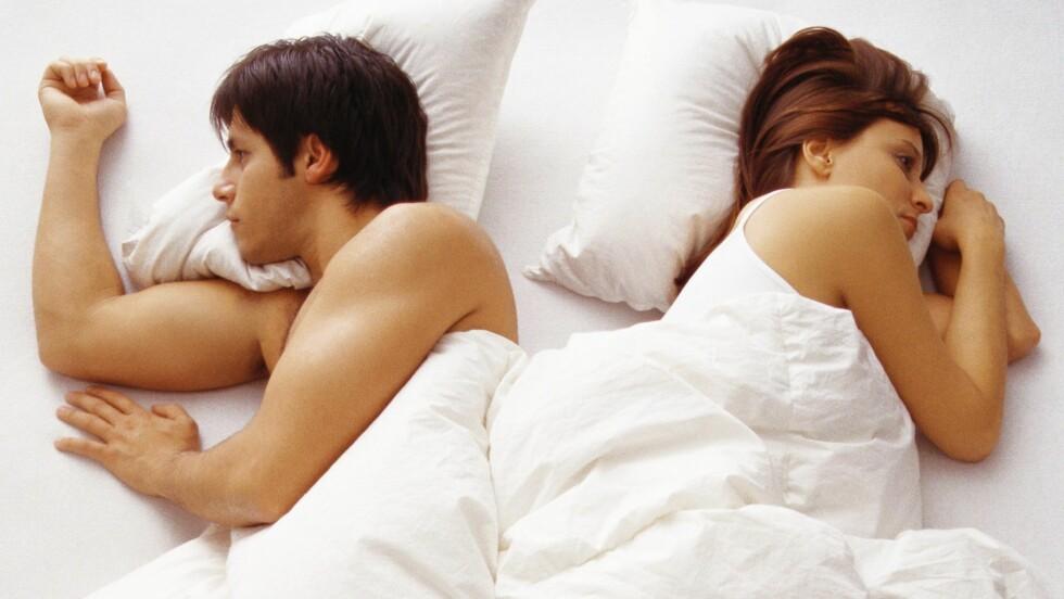 <strong>SEXLYST:</strong> Irriterer du deg stadig over ting partneren din gjlr og har ikke lenger lyst til å ha sex med han? Da bør du si i fra slik at han kan gjøre noe med det.  Foto: All Over Press