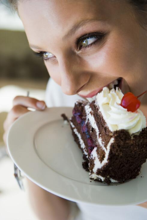 LOVLIG SØTT: Spise kake til du sprekker annenhver dag? Hmmm... skeptisk. Foto: Thinkstock