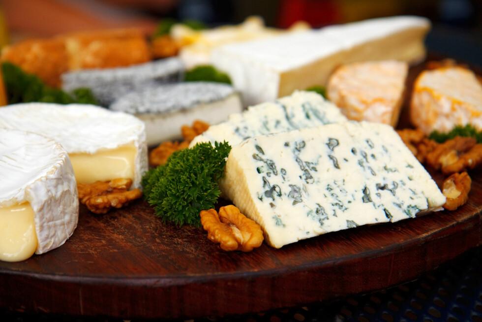BLÅMUGGOST: Oster som blåmuggost eller hvitmuggost er blant de som inneholder mest fett, og som regel litt mindre kalsium enn det det er i brunost og gulost.  Foto: Thinkstock.com
