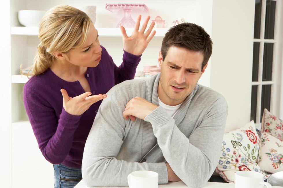 IKKE FORELSKET LENGER: Etter to år vil forelskelsen dabbe av, og det du likte ved partneren din før kan bli irritasjonsmomenter.  Foto: Monkey Business - Fotolia