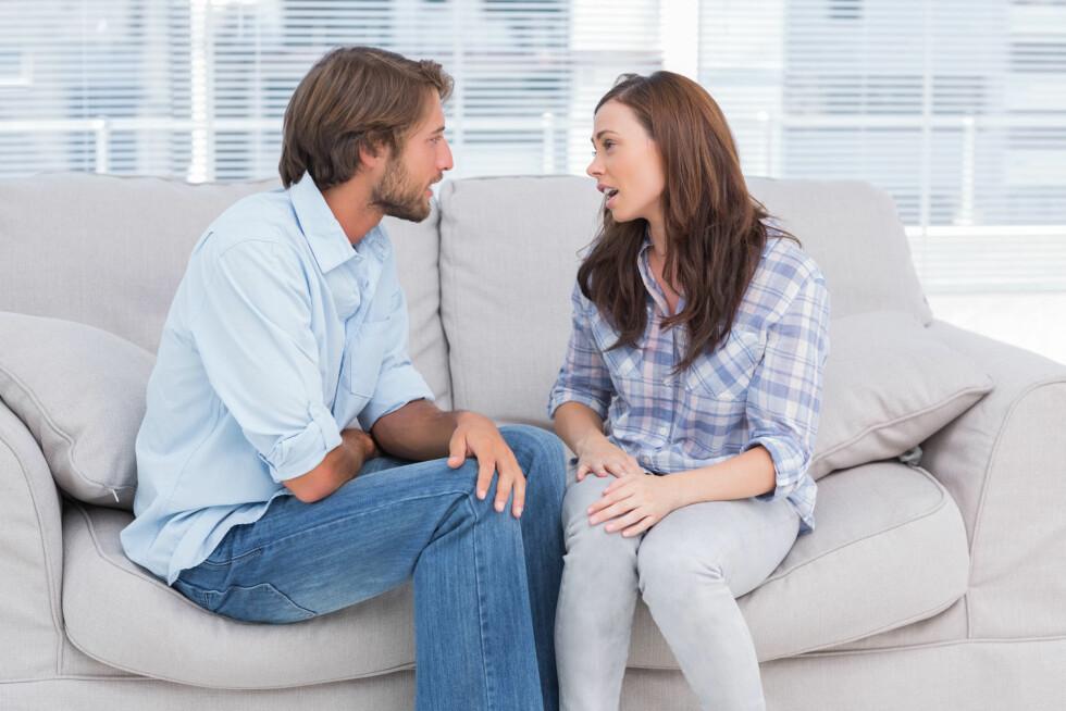 <strong>SI HVA DU ØNSKER:</strong> Det er viktig å huske at partneren din ikke er tankeleser. Fortell han hva du ønsker og vil ha av han.  Foto:  Fotolia