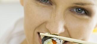 Sushi kan gjøre deg tjukk