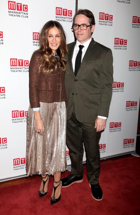 """BOR I NEW YORK: Sarah Jessica Parker og Matthew Broderick har gjort som """"Carrie"""" og bosatt seg i New York med sine tre barn.  Foto: Adam Nemser/startraksphoto.com/A"""