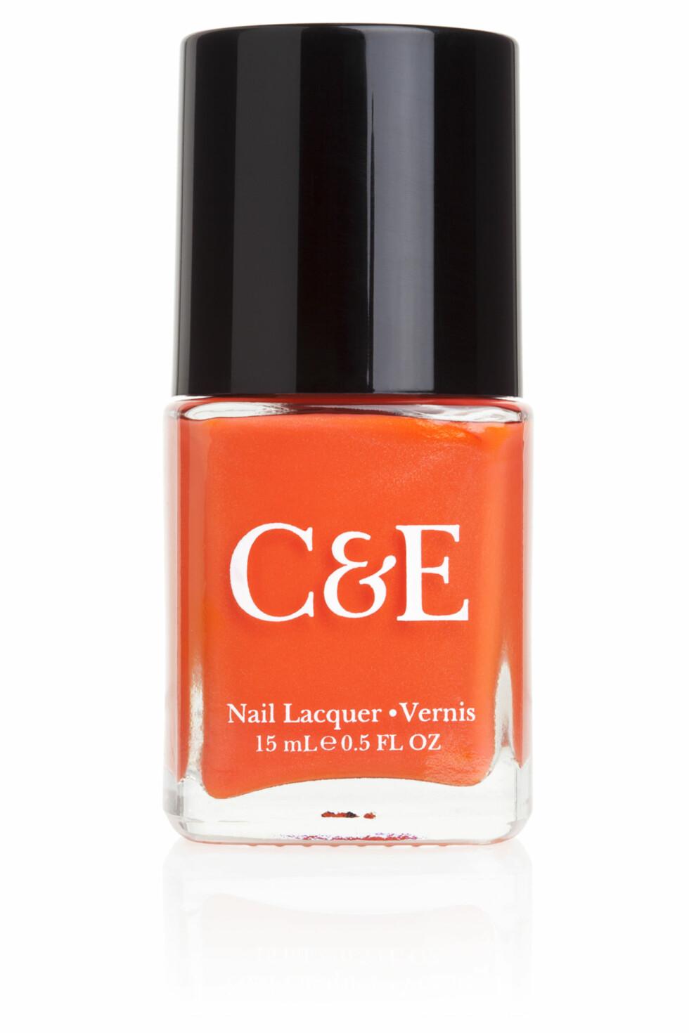 Oransje neglelakk fra Crabtree & Evelyn, kr 89.