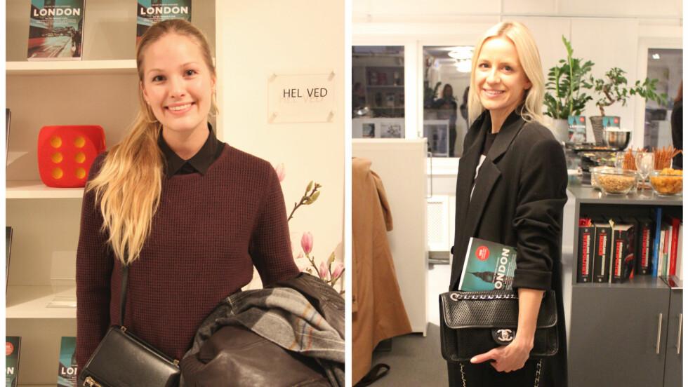 BOKLANSERING: Celine Aagaard lanserte reiseboken «London - 105 unike opplevelser», og Maria Skappel var til stede. Foto: Silje Pedersen og Stine Therese Strand