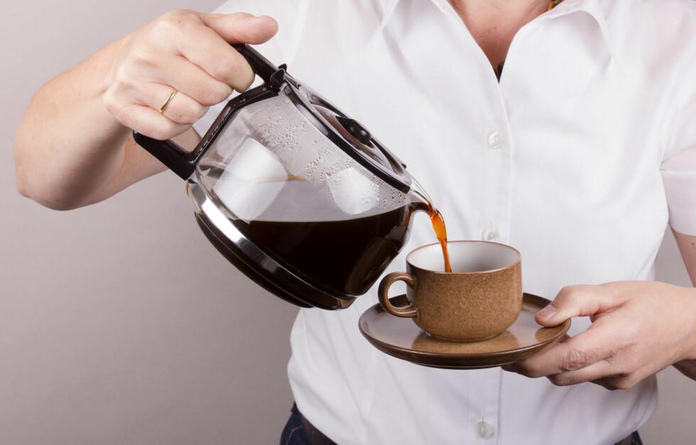LITT FOR GLAD I DETTE? Ekspertene advarer mot koffeinavhengigheten.  Foto: B.Piereck - Fotolia