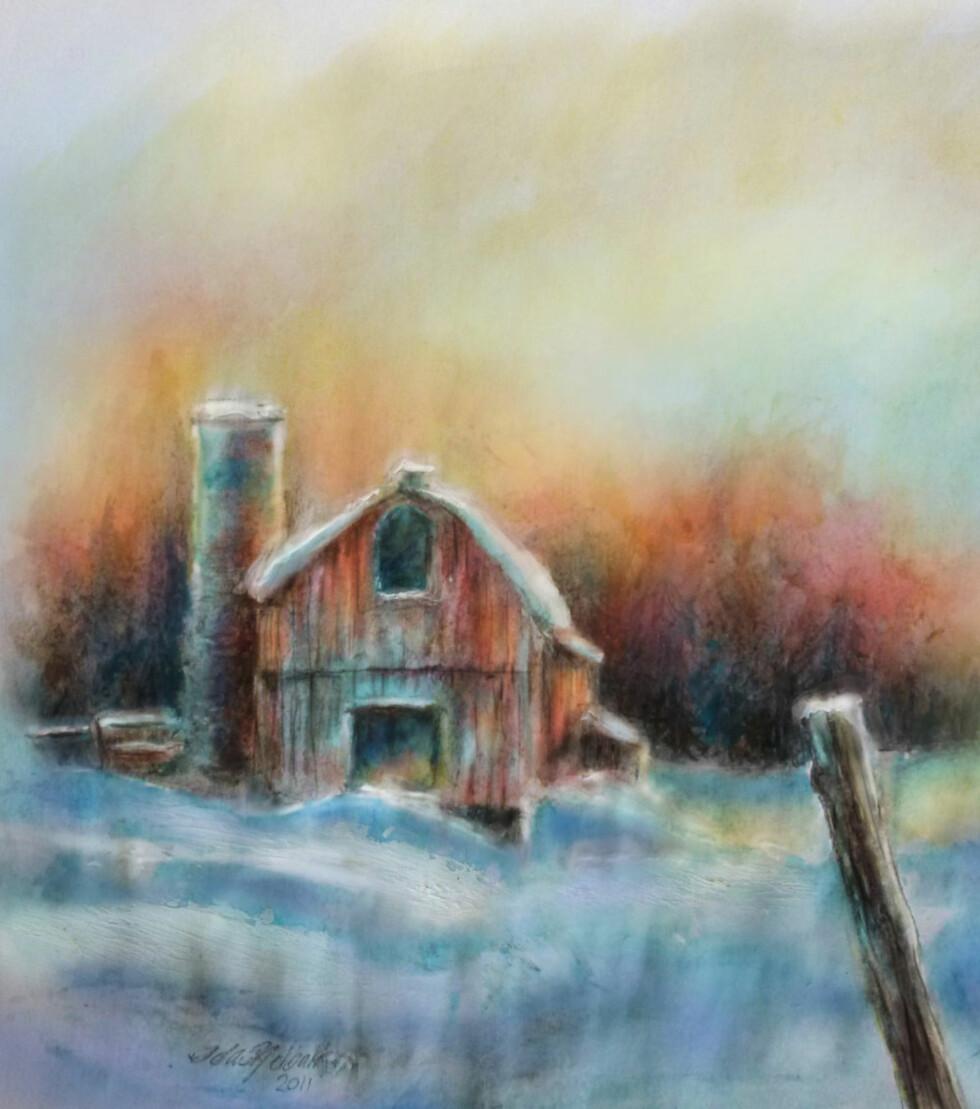 <strong>KREATIV I FENGSEL:</strong> Hva gjør en maler som ikke får malersaker? Jo, væter M & M-sjokolade så fargen renner av, og bruker tannkrem til snø.
