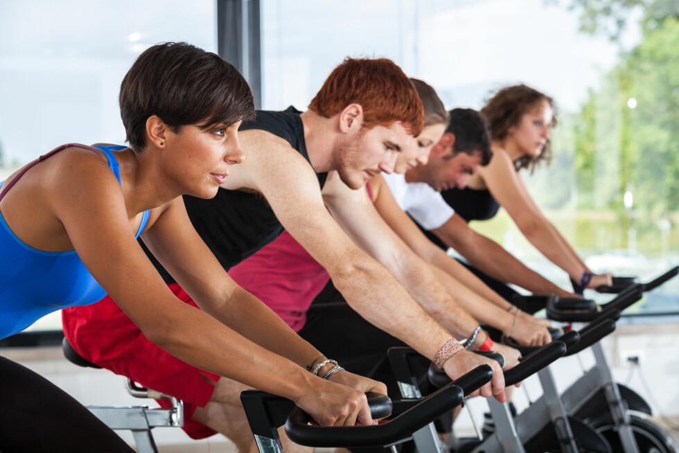 SKAL MYE TIL: Ifølge de norske treningsekspertene kan du oppleve å få mer muskler i lår og legger når du spinner, men det skal veldig mye til for at de skal bli markant større.  Foto: william87 - Fotolia