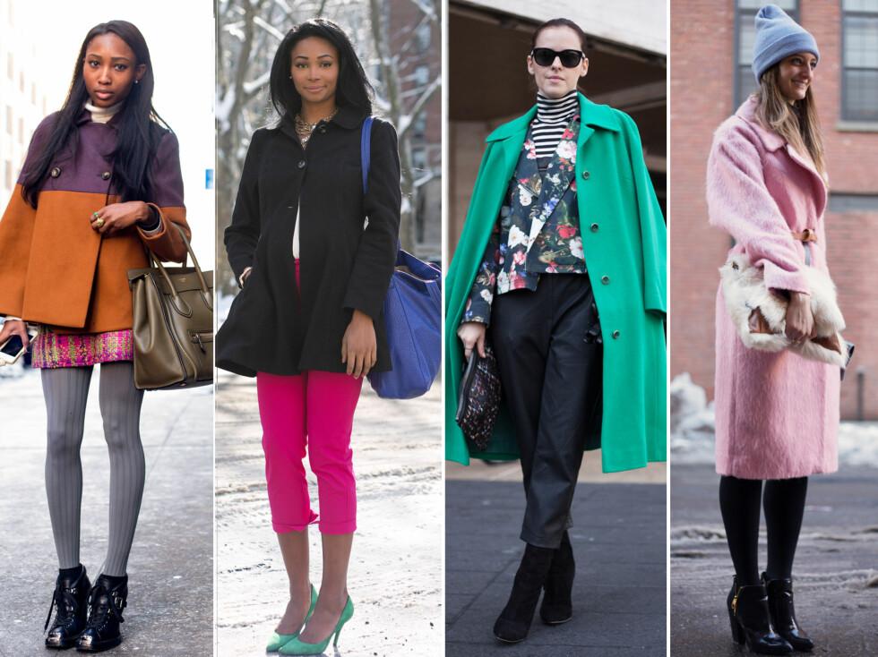 FASJONABLE KVINNER: Utenfor visningene under New York Fashion Week dukker det opp alt som kan krype og gå av motekvinner for å vise frem de hotteste trendene.  Foto: All Over Press