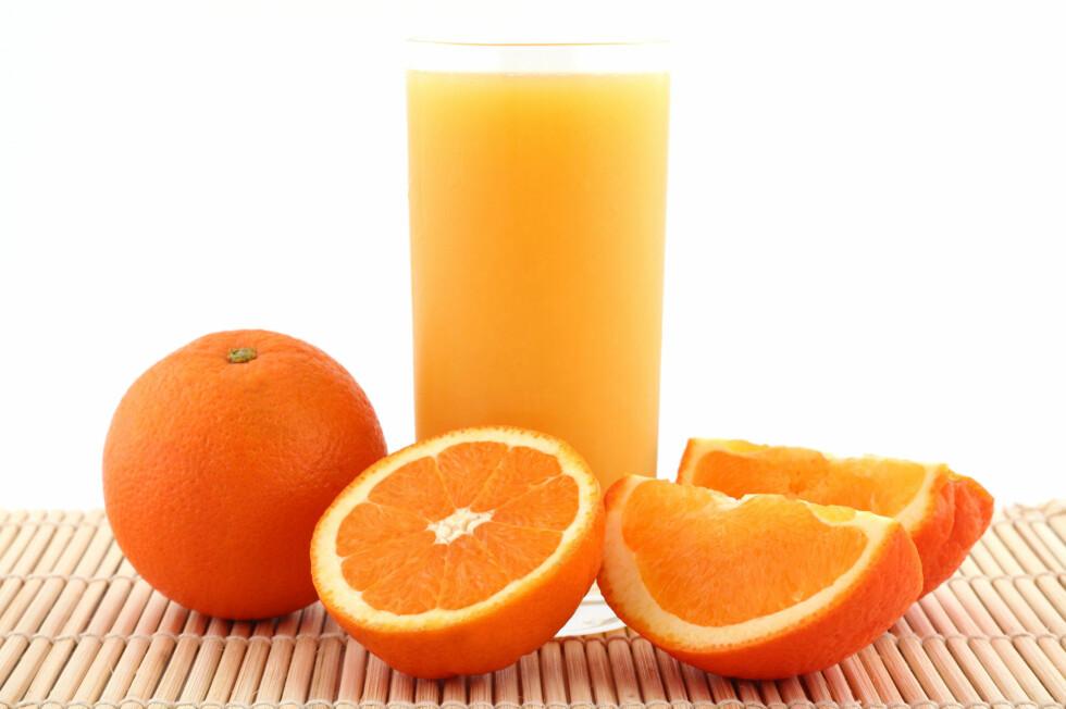 HOLD DEG UNNA: Dropp sitrusfrukter og juice hvis du har brent deg på tunga.  Foto: Thinkstock.com