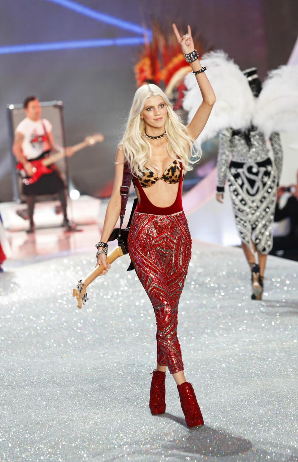 Devon Windsor på Victoria's Secret-showet i New York Foto: Richie Buxo / Splash News/ All Over Press