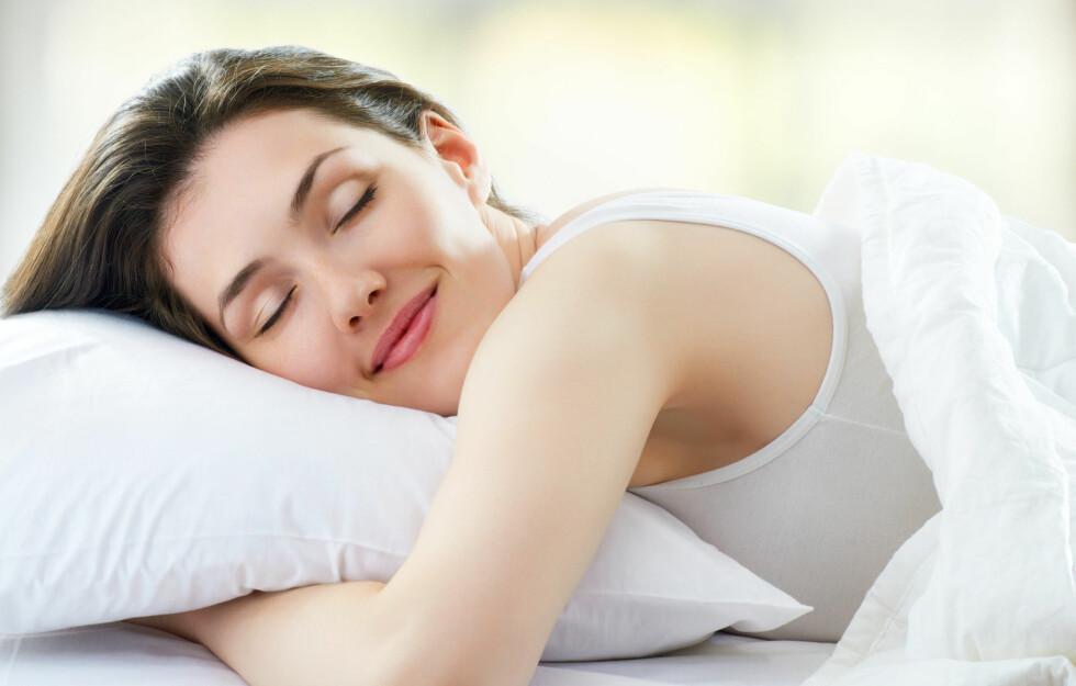 SØVNSNAKKING: nesten 70 prosent av oss har snakket i søvne. Foto: Konstantin Yuganov - Fotolia