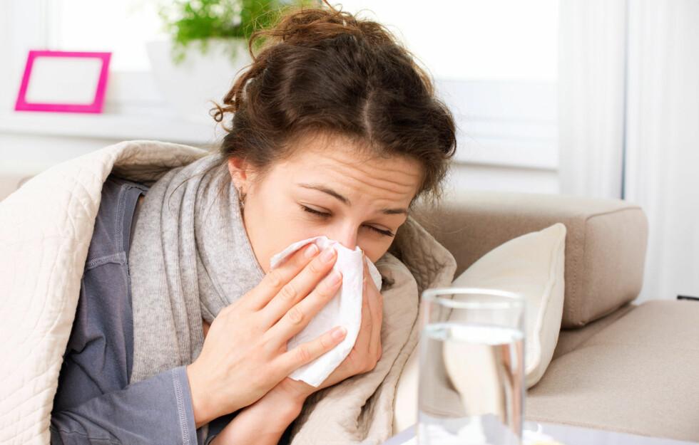 FORKJØLELSE: Visste du at du vil være forkjølet over 200 ganger i løpet av livet? Heldigvis vil du nesten bli immun mot plager etter du har fylt 75 år.  Foto: Subbotina Anna - Fotolia