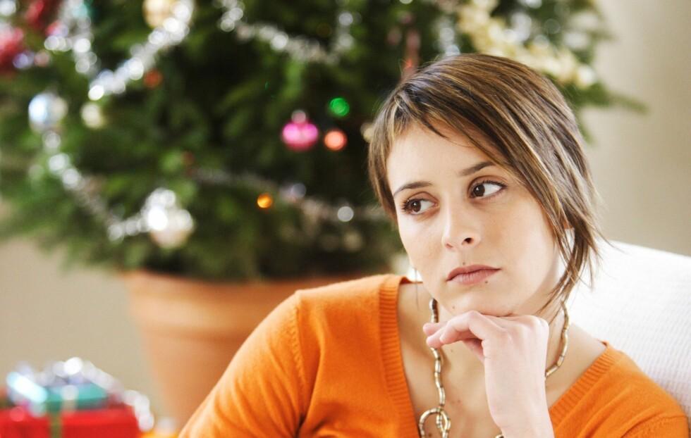 ENSOM I JULA?: Mange single synes jula er en vanskelig høytid fordi de blir påminnet om det de ikke har.  Foto: REX/Burger/Phanie/All Over Press