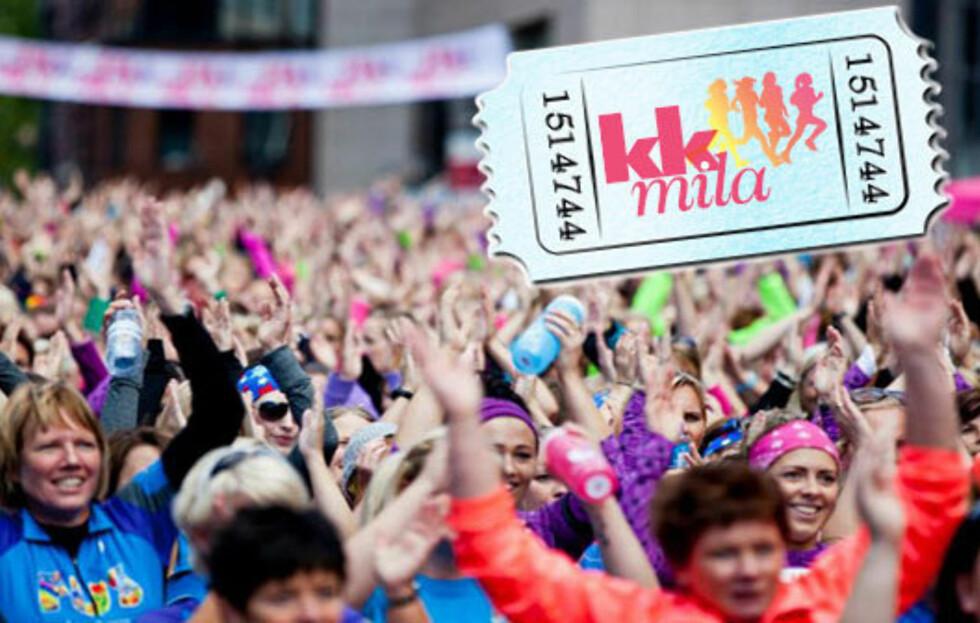 GI BORT EN SPORTY GAVE: Har du en venninne, søster eller mor som alltid har drømt om å løpe KK-mila (eller 5 kilometeren)? Nå kan du gi de deltagelse i gave! Foto: Sara Johannessen