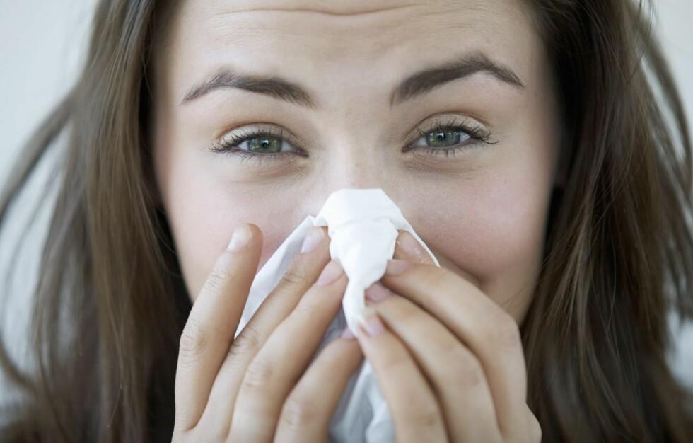 NYSER DU ORDENLTIG? Det kan være farlig ikke å gjøre det, men den viktigste grunnen til å nyse fritt, er at du ikke får renset nesen om du lar være.  Foto: All Over Press